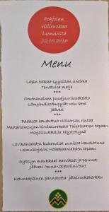 Kuva 10 Pohjolan villiruokaa luonnosta menu