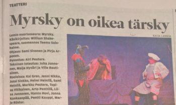 Teatterimatka Lemille lauantaina 2.2.2019 katsomaan MYRSKY- näytelmää