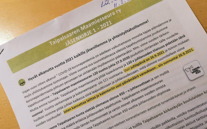 Maamiesseuran vuoden ensimmäinen jäsenkirje- ajankohtaista asiaa alkuvuoden osalta